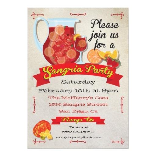 Festive Sangria Party Invitations