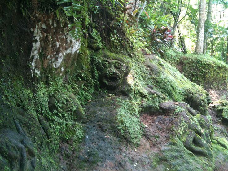 Statue ruin in the jungle