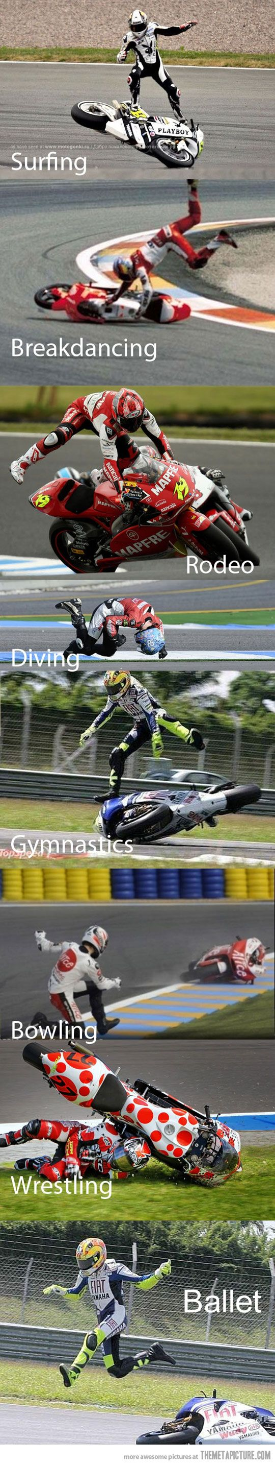 Sports that can be combined with motorcycle racing so corny. But had to pin anyway