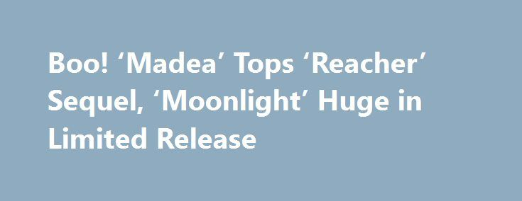 Boo! 'Madea' Tops 'Reacher' Sequel, 'Moonlight' Huge in Limited Release http://filmanons.besaba.com/boo-madea-tops-reacher-sequel-moonlight-huge-in-limited-release/  There is plenty to discuss in a weekend where Lionsgate's Boo! A Madea Halloween is crowned champion of the largest three-day weekend the 2016 box office has seen in over two months. Boo!, along with fellow new releases Jack Reacher: Never Go Back, Ouija: Origin of Evil and Keeping Up with the Joneses, generated 61.6% […]