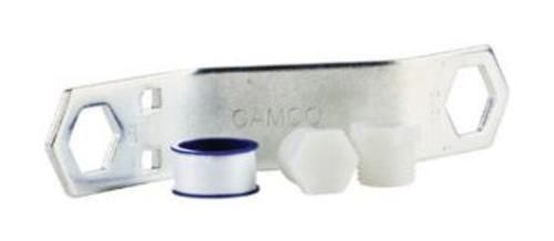 Camco 11633 Rv Water Heater Drain Plug Kit, 7/8""