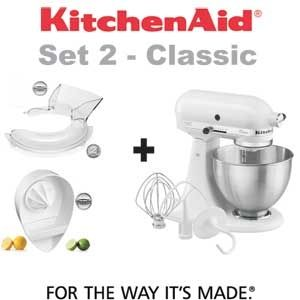 Kitchenaid Classic 5k45ss + Tapa 5kn1ps + Exprimidor 5JE