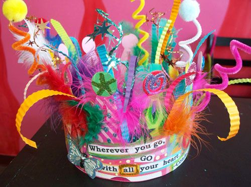 Party crown Dreaming Bear Designs Dori Patrick-- how cute is this crown for a birthday or just because it is fun to wear a crown....?