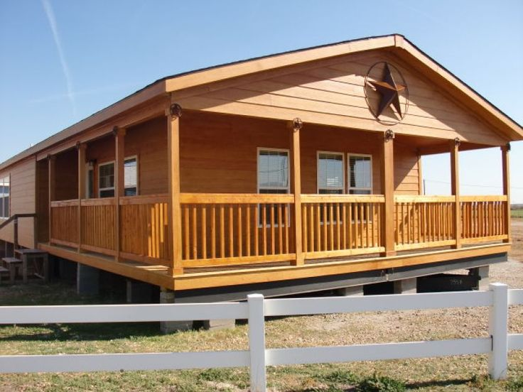 This generouslysized cabin has an attractive rustic