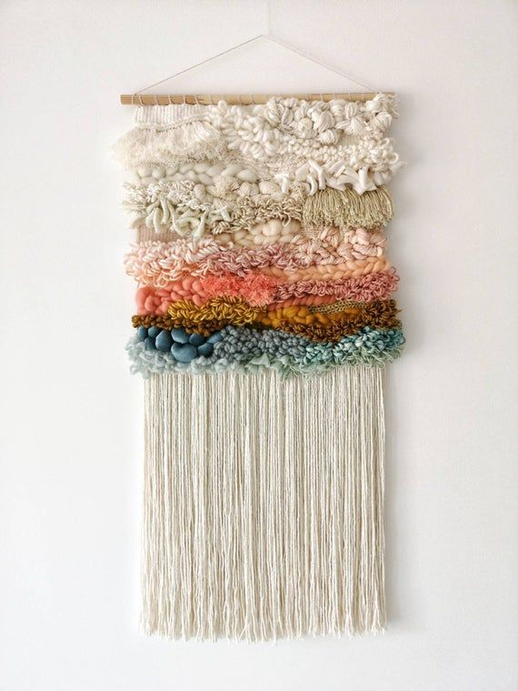 Woven wall hanging / Textile tapestry / Wall decor / Fiber art / Modern tapestry