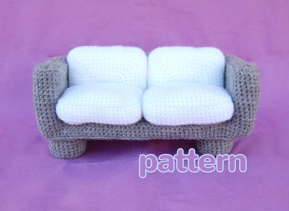 amigurumi pattern - modern sofa