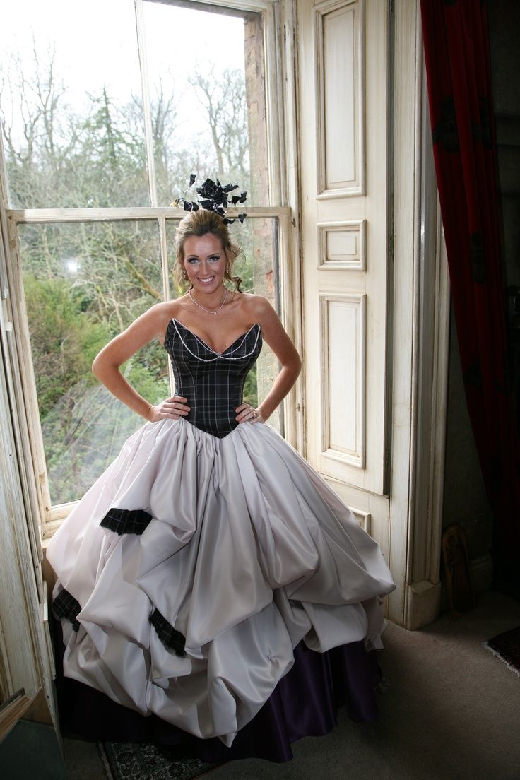17 best images about plaid wedding dress on pinterest for Scottish wedding dresses with tartan