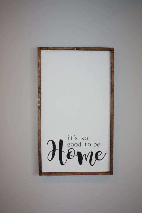 Good to be home   Wood framed sign  by ThriftyTreasures01 on Etsy