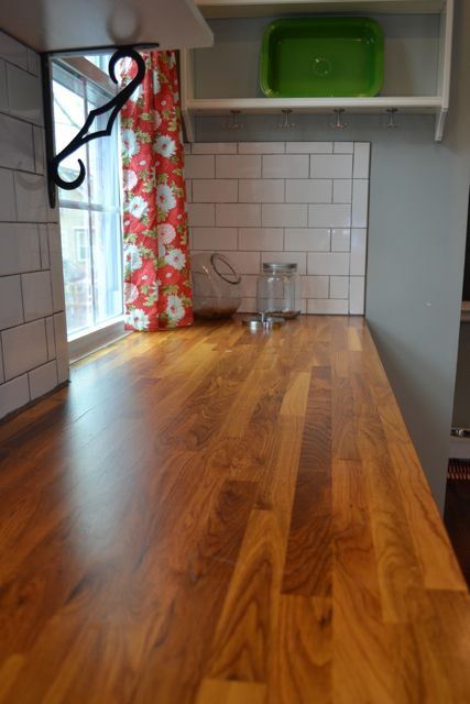 review of and tips for IKEA butcher block countertops  Really debating putting this in. Don't wanna re-do the whole kitchen but this would help update
