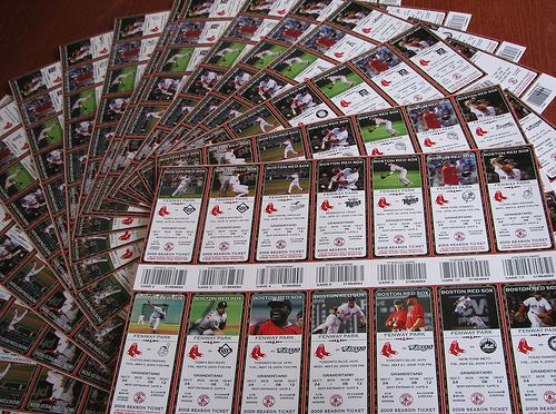 Red Sox season tickets...one can dream