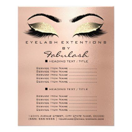 #Makeup Beauty Salon Gold Glitter Flyer Skinny Lash - #gold #glitter #gifts