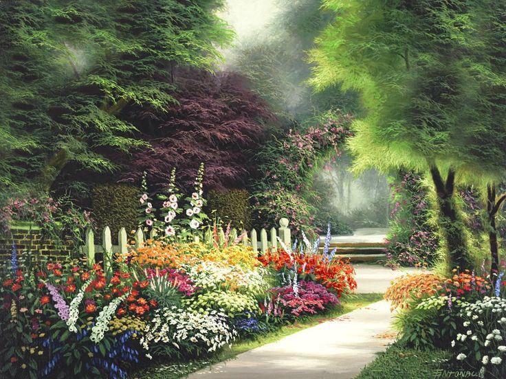 Мужским днем, открытки волшебный сад