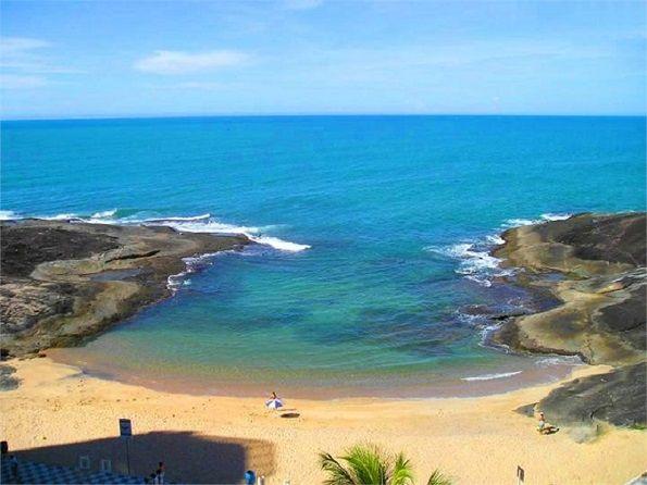 Praia das Virturdes, em Guarapari.Espírito Santo