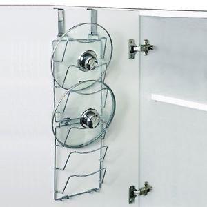 OVER-DOOR-PAN-LID-STORAGE-RACKS-Saucepans-Lid-Holder-HOLDS-6-lids-Lid-Rack