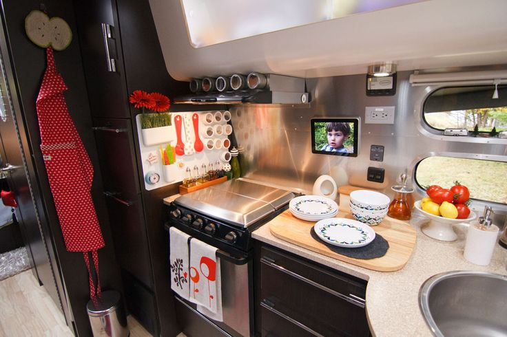 Inside an airstream travel trailer airstream travel Travel trailer decorating ideas