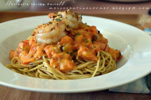 Mel's Creative Corner: Creamy Chipotle Shrimp Pasta!