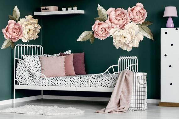 Naklejka Kwiaty Piwonie Peonie Watercolor Piekny Motyw Nie Tylko Do Dzieciecego Pokoju Na Kazdej Scianie Wyglada Przepieknie Pastelo Home Decor Home Decor