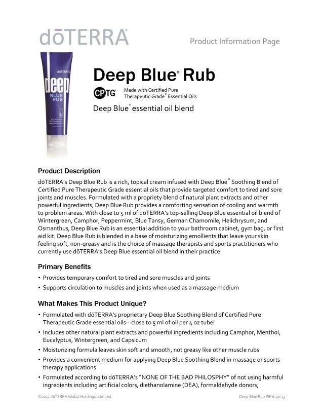 Deep Blue Rub page 1