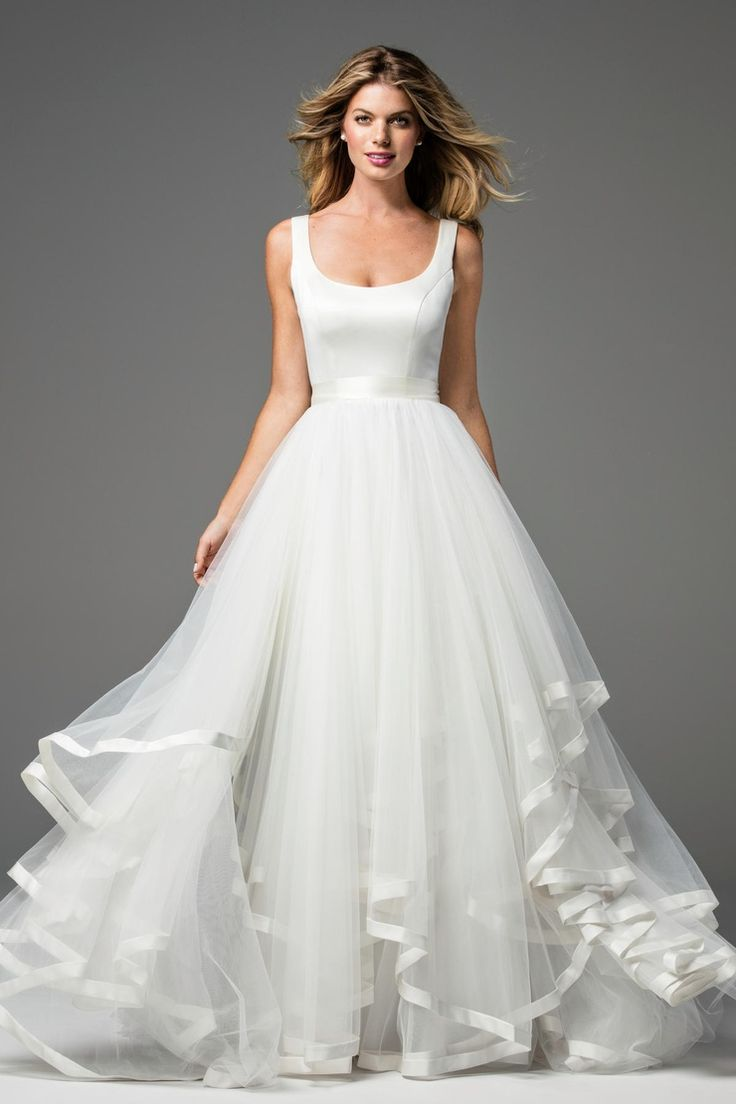 Fancy Wtoo by Watters Spring arabella satin ball gown tulle skirt lined double faced satin ribbon