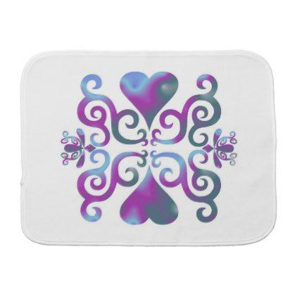 Rainbow Heart and Lily Burp Cloth - diy cyo personalize design idea new special custom