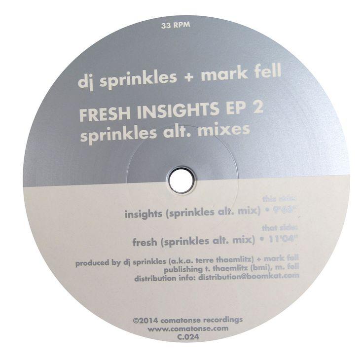 "DJ Sprinkles + Mark Fell: Fresh Insights EP 2 (Sprinkles Alt. Mixes) Vinyl 12"""