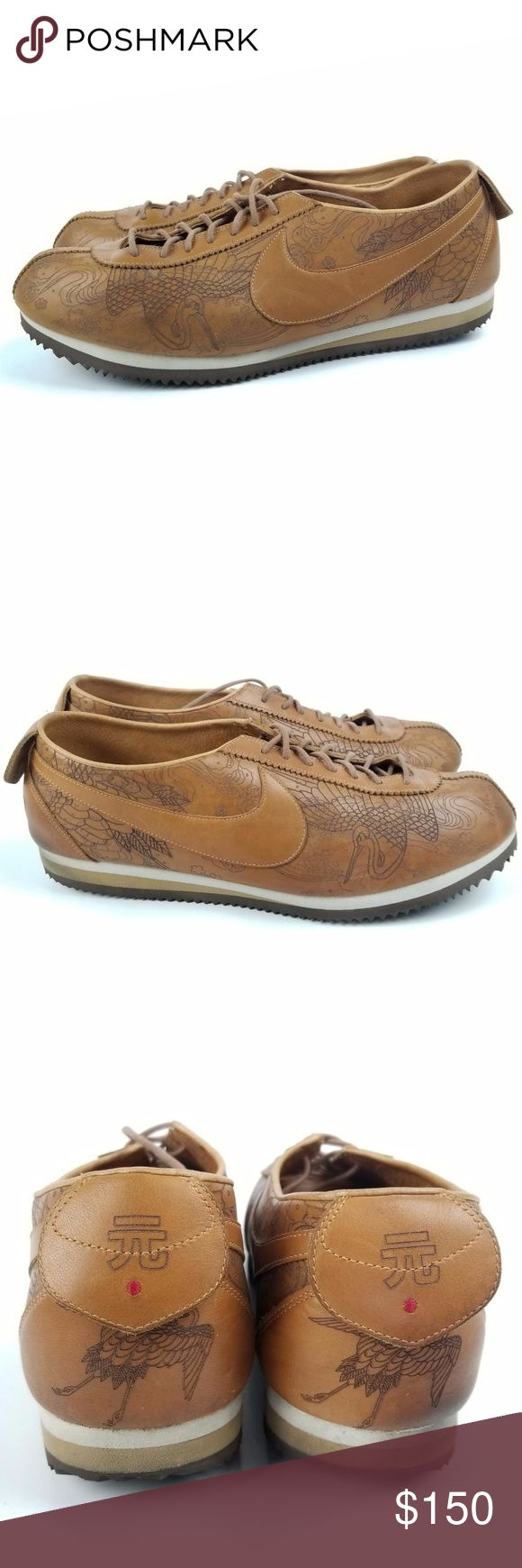 """Nike Original Cortez Premium 309174-221-00 Sz 12 Tattoo  Brown  Laser Cut  Rare find! 2004 laser cut Cortez Very little wear. Soles are near perfect.  Not sure it will fit? Take bottom measurements of a similar item that fits and compare with the measurements below.          Measurements: (Approximate in inches)    Bottom length: 12"""" Bottom Width: 4""""  8465 Nike Shoes Sneakers"""