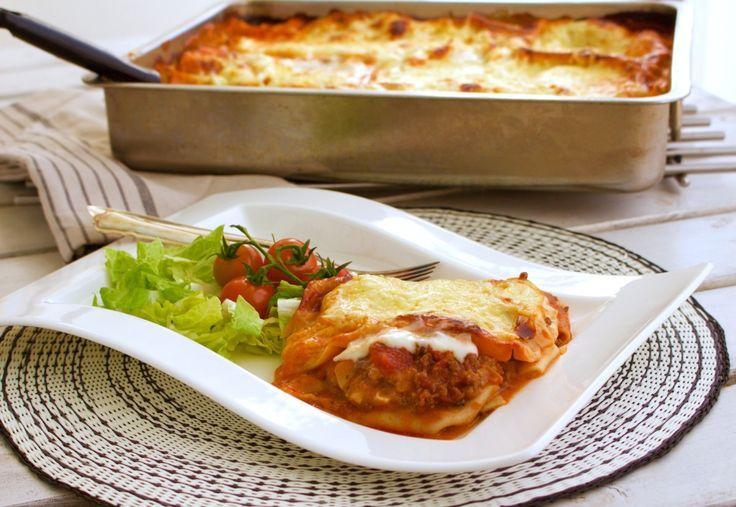 Krämig lasagne med extra allt