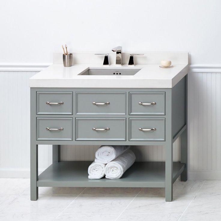 Ronbow 052742 F21 Newcastle 42 In. Single Bathroom Vanity   Add Someu2026