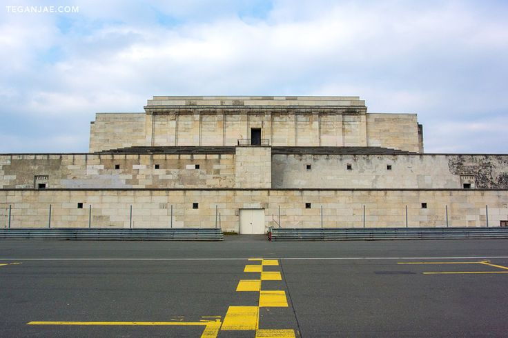 A collection of images from Zeppelin Field at the Nazi Party Rally Grounds in…