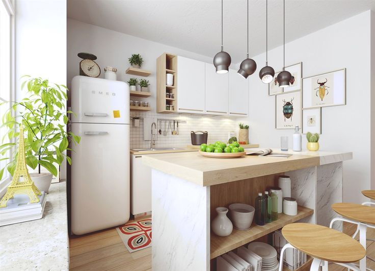 Gorgeous kitchen design with nordic theme... | Visit : roohome.com    #kitchen #design #decoration #amazing #awesome #gorgeous #great #fabulous #interior #creative