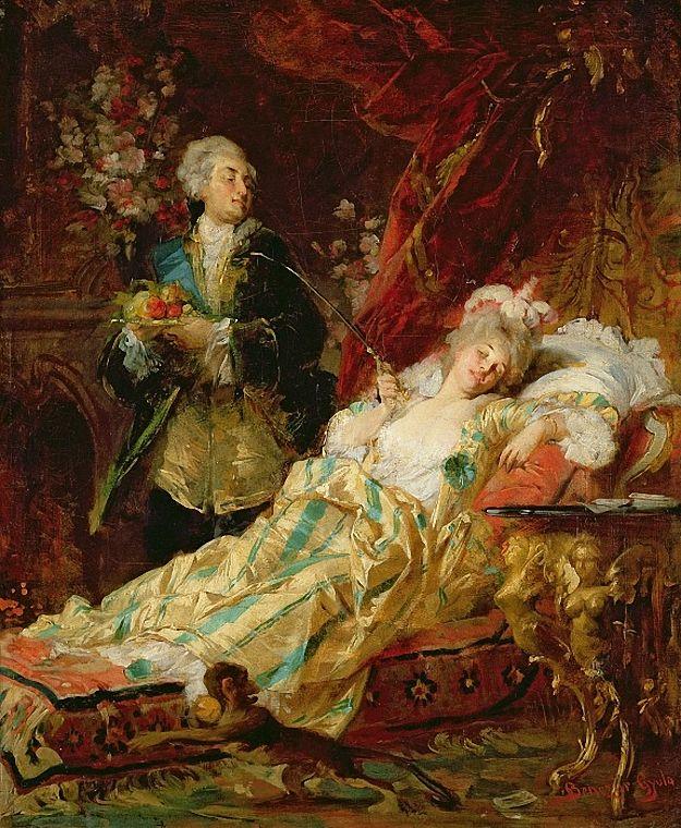 Louis XV And Madame Dubarry by Gyula Benczur: