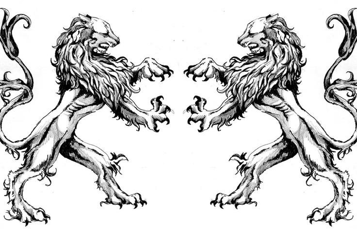 Winged lion tattoo - photo#18