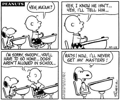 October 22, 1968 - I'll never get my Master's!