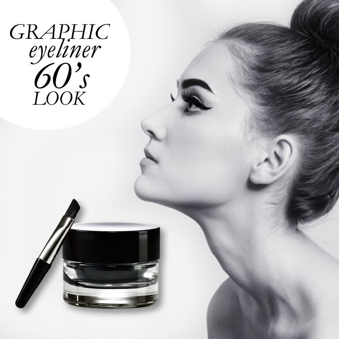 Create your own vintage look with Oriflame Eye Liner Gel
