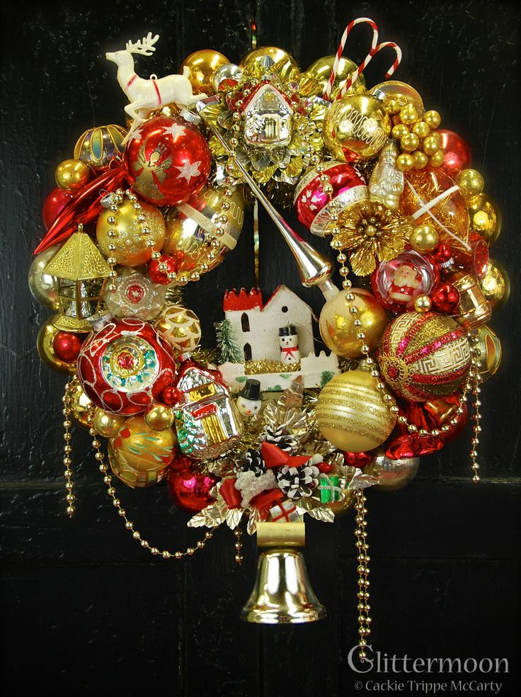 """Home for the Holidays"" Wreath ©Glittermoon Vintage Christmas 2013"