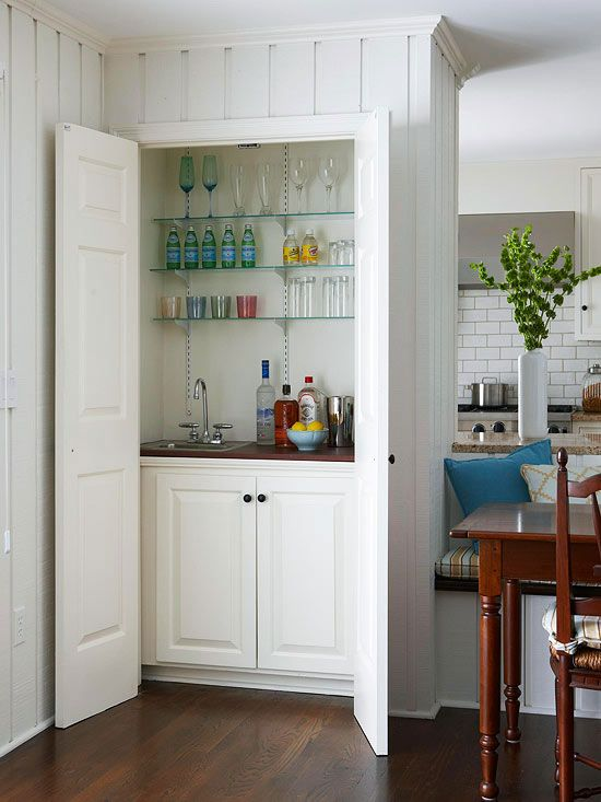 Marvelous Kitchen Remodeling Pictures. Closet BarHidden ...