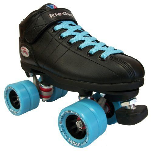 Riedell R3 Demon Blue Speed Skates - Black Demon Roller Derby Skate by Riedell. $139.00. Riedell R3 Demon Blue Speed Skates - Black Demon Roller Derby Skate - Check out these new custom Riedell R3 Demon quad skates from Riedell. The Riedell R3 Demon custom features indoor Radar Demon wheels for style and performance. Riedell hit a homerun when they created the brand new Riedell R3 Demon black speed skates. Riedell skates is in the business of only creating only the most popul...