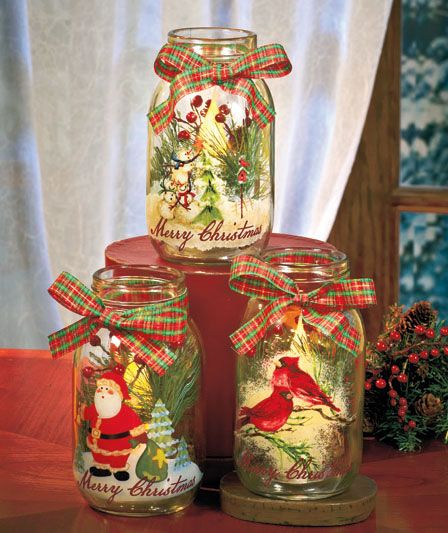 Holiday LED Candle Jars The Lakeside Collection
