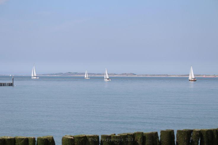 Al largo del porto di Breskens, Olanda...