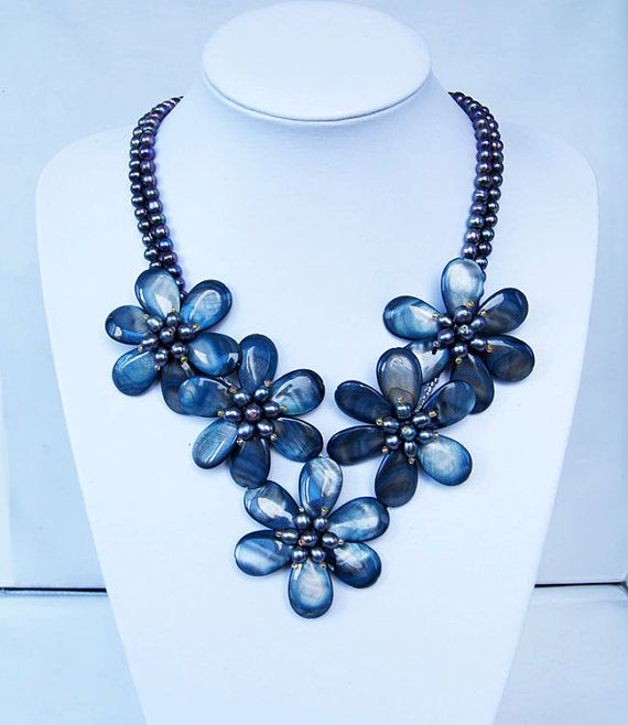 bridesmaid gift Bead NecklaceBeaded JewelryPearl by audreyjewelry, $29.50