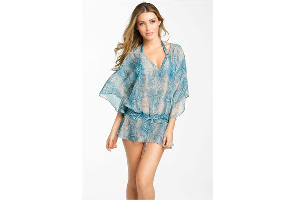 ViX Swimwear Safari Silk Tunic Cover-Up/The summer heat is starting to make its presence known. It's the perfect time to soak in the sun and wear your favorite summer outfit. This ViX tunic cover-up adds a sensual vibe to your summer look. It features vintage snakeskin print, tunneled drawstring, drop waist and silk fabric. Pair this silk tunic cover-up with your favorite bikini.