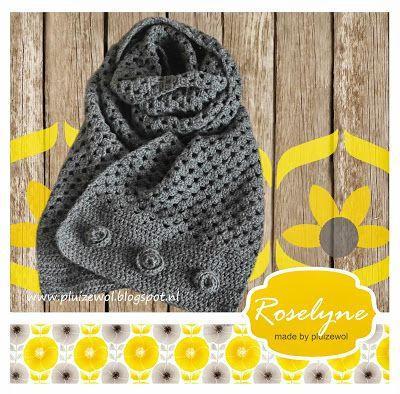 Pluizewol: Sjaal met patroon van Drops