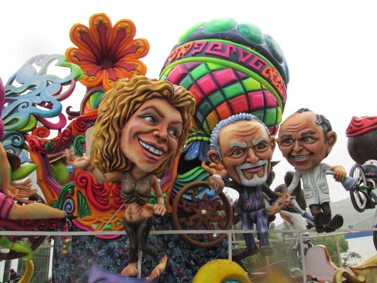 Detalle de carroza - Carnaval de Negros y Blancos de Pasto (Colombia) 2014.