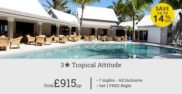 Luxury of the gorgeous Tropical Attitude Mauritius just got more affordable! Book this exclusive deal and get ready for a vacation you have been daydreaming of.
