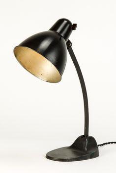 Marianne Brandt for Körting & Mathiesen (Kandem); desk lamp, enameled metal, Bauhaus, Germany, c1930