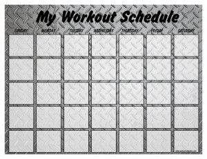 Workout Schedule Templates!