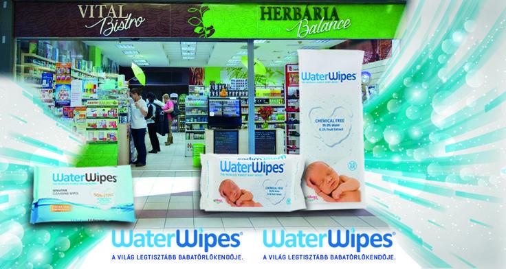 WaterWipes a Camponában a Herbária Balance és Vital Bistro üzletében. A WaterWipes Baba törlőkendő és Kozmetikai kendő már a Campona Bevásárlóközpontban is elérhető