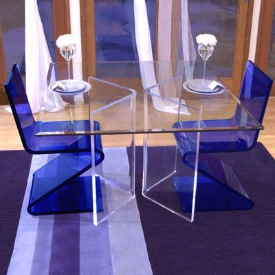 Etonnant Elegant And Modern Acrylic Dining Blue Chair And Clear Table Products, Buy  Elegant And Modern Acrylic Dining Blue Chair And Clear Table Products From  Vanjin