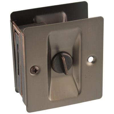 National Hardware Antique Bronze Pocket Door Latch - V1951 POCKT DR LATCHABZ at The Home Depot