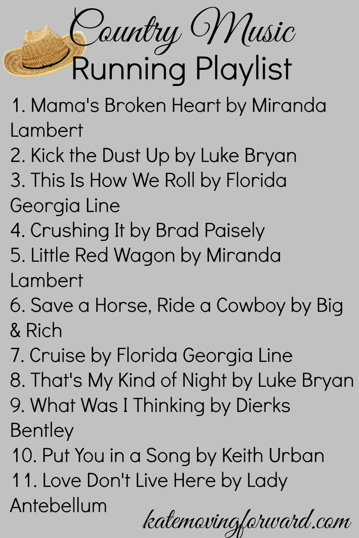 my country music running playlist